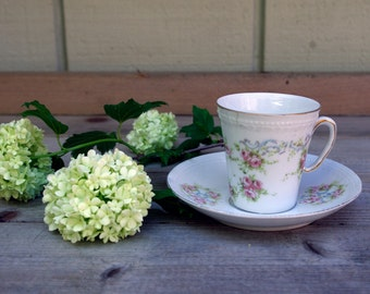 Dainty Roses Cup and Saucer Victoria Austria