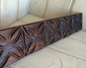 Tapa Tiki Moulding - Maui Trim Decor Tiki Bar Room Custom Carving Redwood Witco