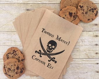 Pirate Birthday Favor Bags, Pirate Birthday, Candy Buffet Bags,Boy Birthday Favors, Birthday Treat Bags, Favor Bags, Candy Bar Bags, Favors