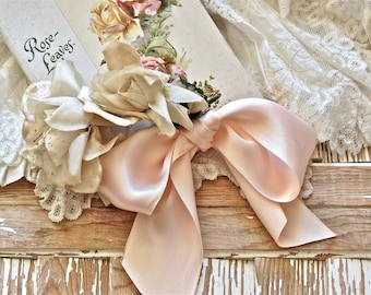 Vintage Shabby Chic Lovely Millinery Roses