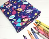 Super girl | Super hero | Girl | Crayon | Storage | Case | Holder | Party favor | Coloring | Tote | book | Drawing | Pad | Paper | art kit