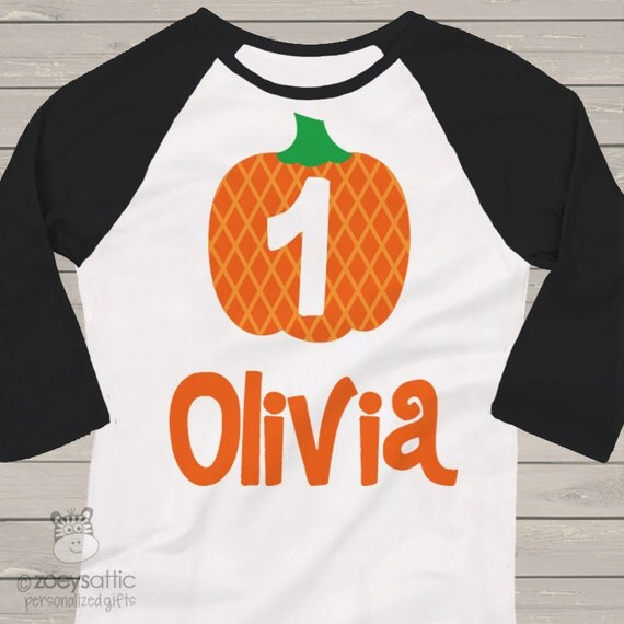 first 1st birthday pumpkin fall party RAGLAN  t-shirt BGPPART