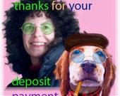 reserved,  deposit payment: PEANUT
