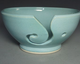 Hand thrown porcelain yarn bowl