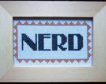 Nerd Framed Cross Stitch