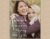 Mother's Day Gift, Mom Quote, Gift for Mom, Mom Photo Quote, Mom Canvas Art, Custom Mom Gift,  Mom Birthday // W-Q04-1PS QQ5 04S