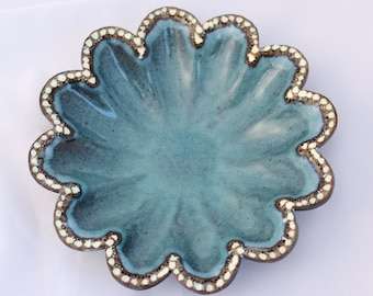 Candy Dish in Turquoise Teal- Ceramic Stoneware Pottery