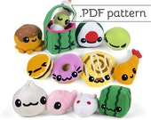Japanese Snack Pattern Pack - Collection of 13 .pdf Sewing Patterns