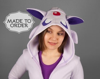 Espeon Pokemon Costume Hoodie - Made to Order