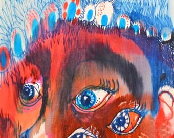 OOAK Original Polynesia Painting on Wood Panel