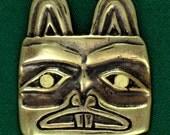 Tlingit Beaver Head Pin - Bronze