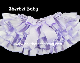 Four Ruffle Lavender Purple Classic Style Sassy Pants Ruffle Diaper Cover Bloomers