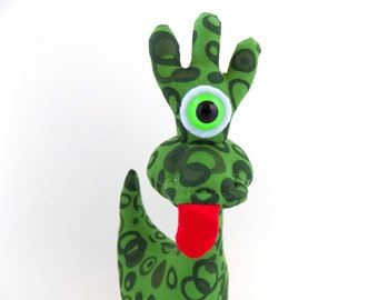 One Eyed Monster Toy, One Eyed Alien Toy, Cyclops, Monster Plush, Stuffed Monster by Adopt an Alien named Rocko