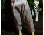 ABJD Dollfie MNF Unoa silk pale silver Dhoti style Pants - long version