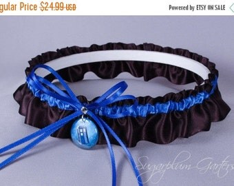Doctor Who Tardis Wedding Garter