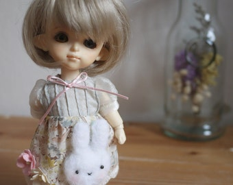Sweet Rabbit on a dress for lati yellow and middie blythe