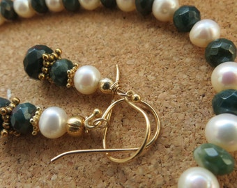 bloodstone and pearl set