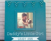 Gift for Dad, Personalized Daddy's Little Girl Picture Frame - Fathers Day Gift, Dad Gift, Daddy Gift