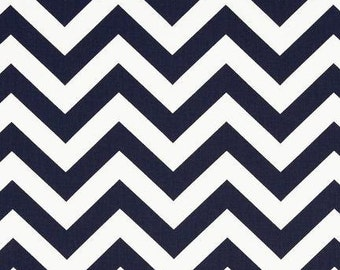 Navy Chevron by Premier Prints Fabric by the Yard