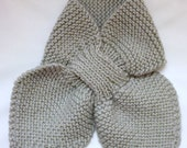 Mini Bow Scarf - Silver...