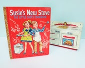1950 First Edition Susie's New Stove, The Little Chef's Cookbook, Little Golden Book, Unsigned