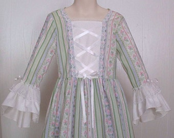 Colonial Pioneer Prairie Girls Felicity Dress Costume Size 8       Ready to Ship