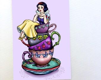 Teacup Snow White Postcard
