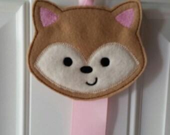 Cute Fox - Fox Bow Holder - Hair Clip holder - Hair bow holder - Clippie Holder - Hair Clip Holder  - Clip Keeper