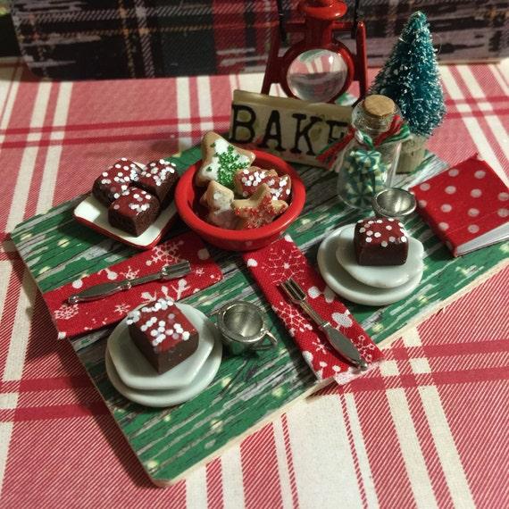 Miniature Rustic Cabin Desserts Prep Board-1:12 scale