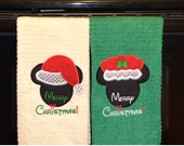 Disney Mickey and Minnie Christmas Kitchen/Hand Towels