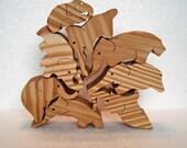 Stacking Elephant Puzzle, 8 Stacking Elephant Toys, Toddler Toy Elephants