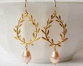 Peach Blush Dangle Earrings