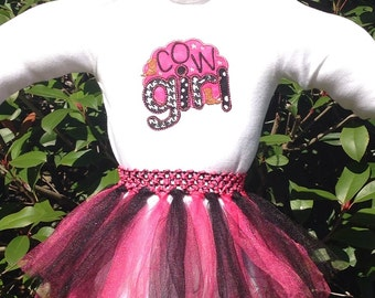 Cowgirl Onesie Tutu Dress Pink and Black Rodeo Birthday Dress Or New Baby Shower Gift for New Mom Who Loves Country Theme and Horses