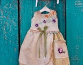 Blythe doll OOAK outfit *Sunny day* embroidered vintage style dress with pocket