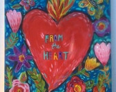 Valentine Sign Heart Painting