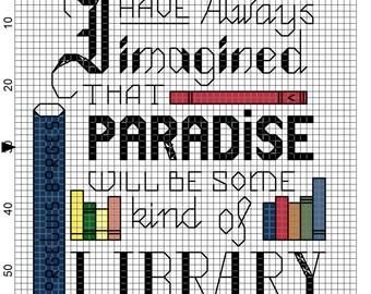 Librarian's Paradise Cross Stitch Pattern - Professional Pattern Designer