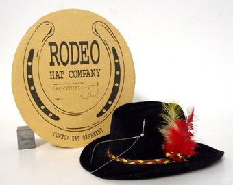 Dept 56 Rodeo Hat Company Ornament W/ Box Horseshoe Department Cowboy Western