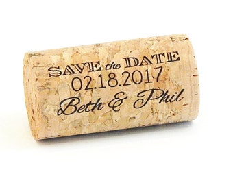 Save the Date Corks, Whole Corks, INCLUDES MAGNET