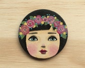 Flora - Hand Painted Brooch