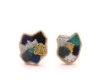 NEW - Hand Embroidered Earrings - MIX 07
