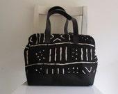 Black and White Bogolan Design Doctor Bag / Tribal / Ethnic / Trraditional