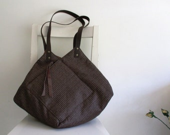 Statement Origami brown Tote
