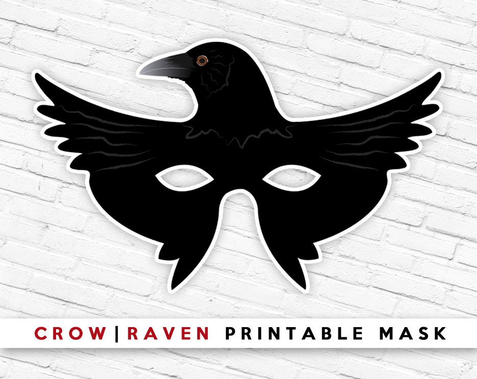 Raven Mask Template