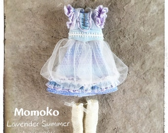 Jiajia Doll Full Set 5 pieces Lavender Summer Set fit Blythe Jerryberry Momoko misaki fashion royalty obitsu dorandoran