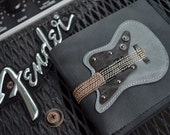SALE 50% Good Friday Hand Stitch Men Wallet Guitar & Silver Color leather