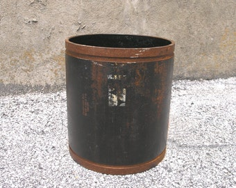 Office Waste Basket, Boyfriend Gift, Trash Bin, Industrial Style,Toilet Paper Storage, Texas Decor, Industrial Pipe Upcycled Pipe, Trash Bin