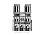 NOTRE DAME- PARIS, France -CLiNG RuBBer STaMP for acrylic block by Cherry Pie Art Stamps