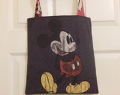 Up cycled Re cycled Tote Bag Disney World