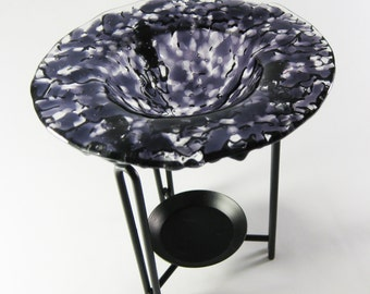 Tart Burner - Purple Fused Glass , Oil Burner, Home Decorating, Room Scents, Home Fragrance, Perfume Oil Holder, Housewarming Gift