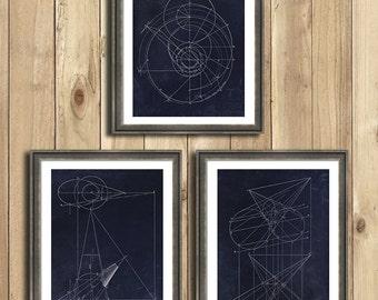 Engineering Geometric Graph Art, Engineering blueprint, engineer gifts, vintage engineering textbook drawings, geometric art, circular art